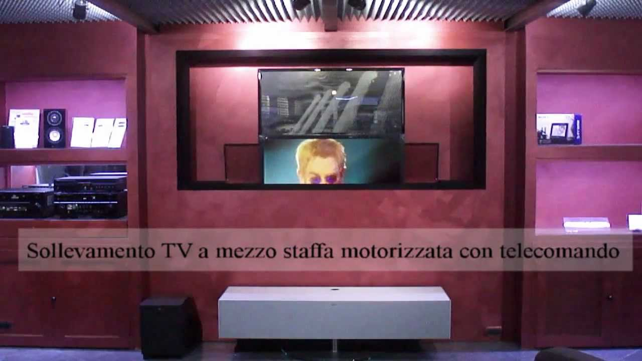 Sala De Tv Tipo Cinema ~ Sala Home Cinema con TV e schermo a scomparsa  YouTub