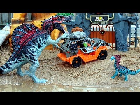 Dino Mountain Adventure Animal Planet Playset For Kids - Dinosaur Toys Video