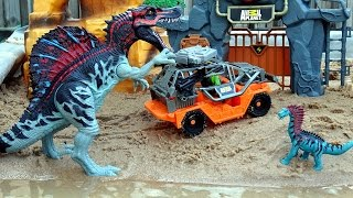 Dino Mountain Adventure Animal Planet Playset For Kids - Dinosaur Toys Video