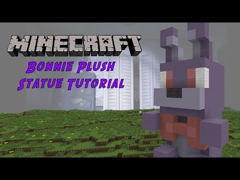 Minecraft Tutorial: Bonnie Plush Toy (Five Night's At Freddy's) Statue