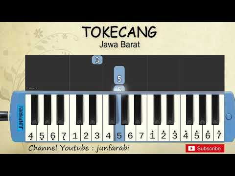 Not Pianika Tokecang - Lagu Daerah / Nusantara / Tradisional Indonesia - Tutorial Pianika Not Angka
