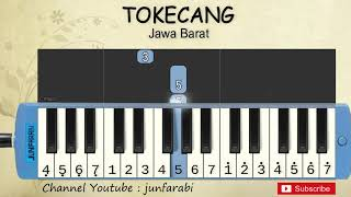 not pianika tokecang - lagu daerah / nusantara / tradisional indonesia - tutorial pianika not angka