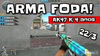 GAMEPLAY AK 47 K 4 anos | VOLTA AS AULAS :/ | CROSSFIRE AL 2.0