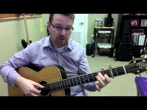 America The Beautiful James Taylor Guitar Lesson by Lance Allen