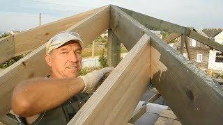 Как правильно запиливать стропила в вальмовой крыши