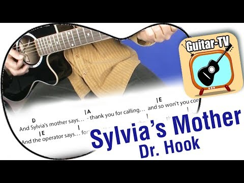 9.1 Sylvia's Mother - Dr. Hook -  Cover - Lyrics - Akkorde / Chords - beginner guitar lesson