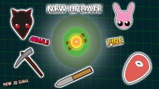 NEW UPDATE! NEW ANIMAL WOLF! NEW EPIC SURVIVAL .IO GAME Starve.io like MooMoo.io!!