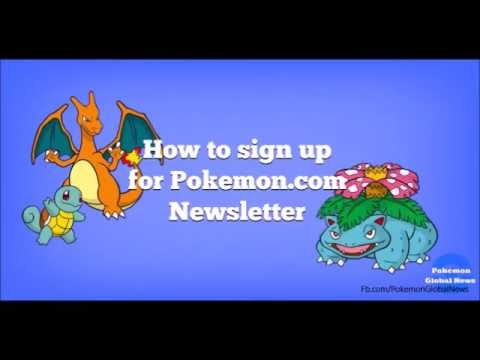 How to sign up for Pokémon Newsletter   YouTube