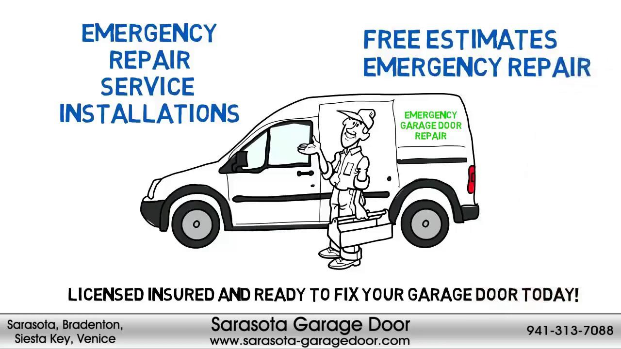 Sarasota Garage Door Garage Door Repair Sarasota Youtube