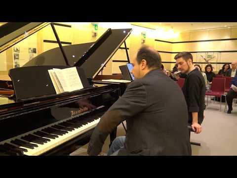 Claudio Martínez Mehner teaches Dominic Chamot Brahms Piano Sonata No. 1, C major, Op.1.