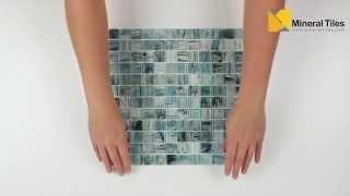 Glass Mosaic Tile Artwork Fresh Blue 1x1 - 120AVEDEWDWBDD11FW