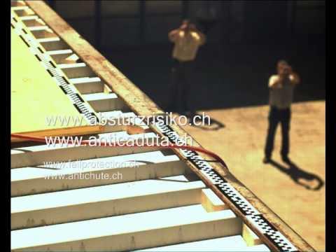 06 Fallversuch ohne Falldämpfer Seil mit Stahlseele - 3.00m horiz ...