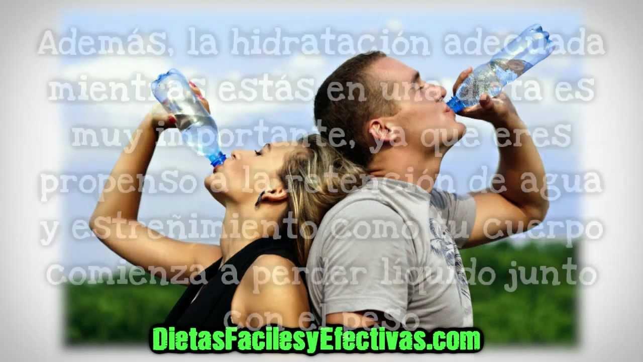 Como bajar de peso bebiendo agua