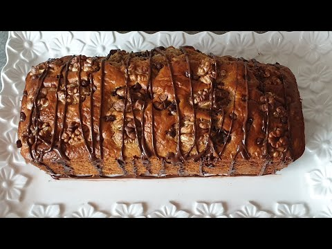 cake-à-la-banane,chocolat-et-aux-noix.-/-كيكة-الموز