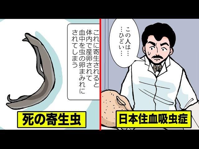 最悪の殺人寄生虫…「日本住血吸血虫」をマンガにした。