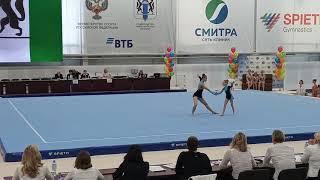 Спортивная акробатика. СФО - 2019. Софья и Арина. Баланс. 11 - 16.