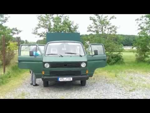 vw t3 doka wohnmobil eigenbau youtube. Black Bedroom Furniture Sets. Home Design Ideas
