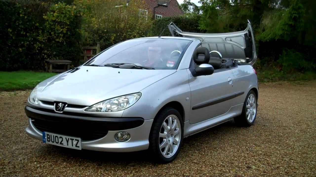 02 02 peugeot 206 coupe 2dr hard top convertible for sale youtube. Black Bedroom Furniture Sets. Home Design Ideas
