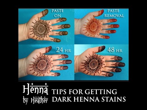 15 Tips on how to to get a dark henna stain