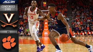 Virginia vs. Clemson - Condensed Game | 2018-19 ACC Basketball