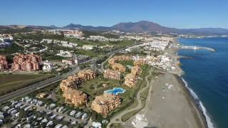 "Spain - Andalusia - campground ""Camping Bellavista"" near Manilva - birdview"