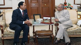 HE General H.M. Ershad, former President of Bangladesh meeting with the President