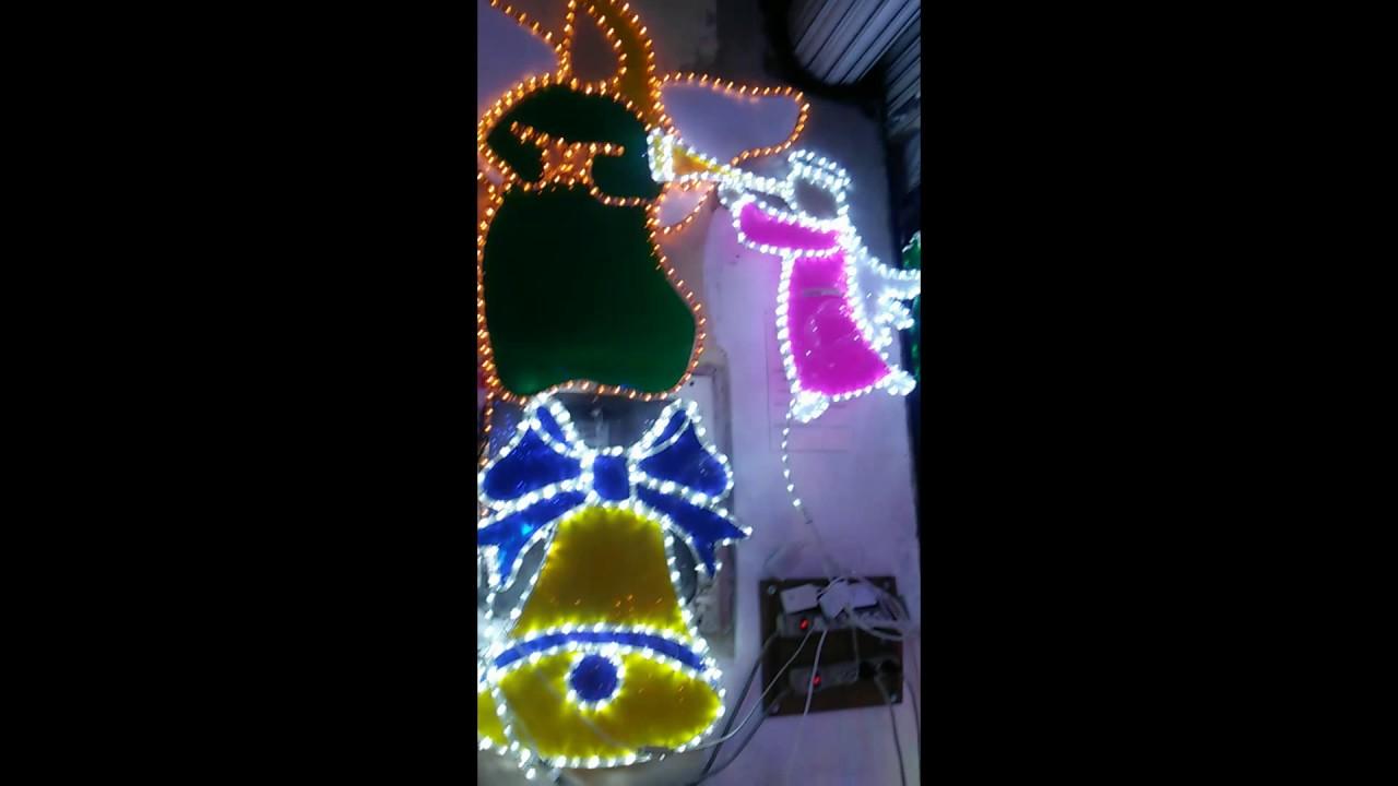 Figuras para decorar en navidad dise adas con manguera for Luces led para decorar