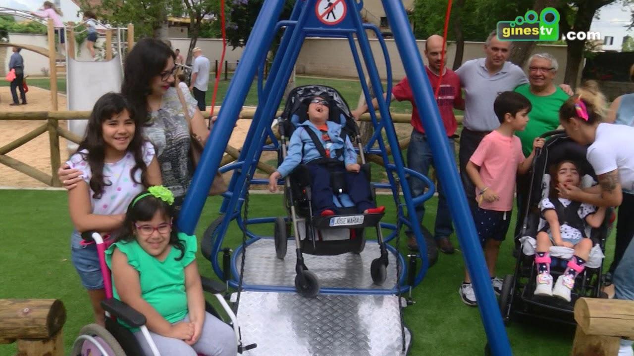 El Parque Municipal estrenó un nuevo columpio adaptado para sillas de ruedas