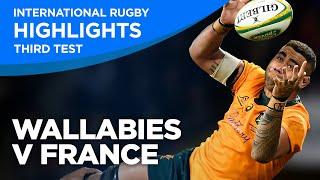 Wallabies v France - Third Test   Highlights   2021