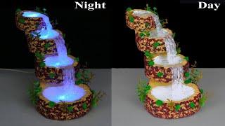 Waterfall from hot glue gun // Waterfall Showpiece for home decoration // Fountain Night Lamp