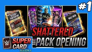 SHATTERED PACK OPENING! I GOT A PRO!! #WWESUPERCARD SEASON 5 #1