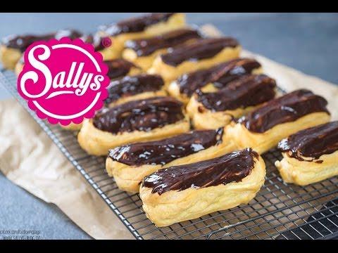 Éclairs mit italienischer Vanillecreme und Schokoladenüberzug / Brandteig / Sallys Welt