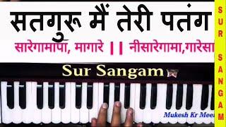 Satguru Main Teri Patang - Harmonium II सतगुरु मैं तेरी पतंग II🌱 Sur Sangam Bhajan II Hindi Bhajan