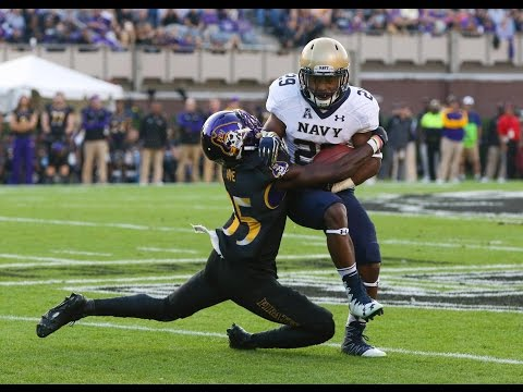 2016 American Football Highlights - Navy 66, ECU 31