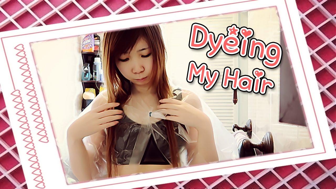 Xiaorishu Hair Dyeing My Hair - YouTu...