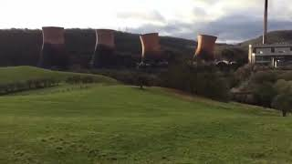 (Loud) Iron Bridge Power Station - Cooling Towers Demolition - 6/12/19