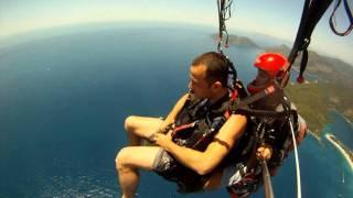 yamaç paraşütü ( paragliding ) müthiş !!! babadağ fethiye..