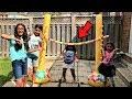 Kids Inflatable Limbo Challenge! family fun game with HZHtube kids fun