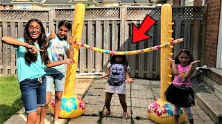 Kids Inflatable Limbo Challenge! family fun game with HZHtube kids fun
