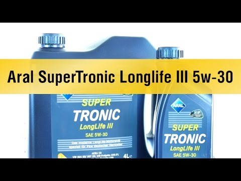 aral supertronic longlife iii 5w 30 youtube. Black Bedroom Furniture Sets. Home Design Ideas
