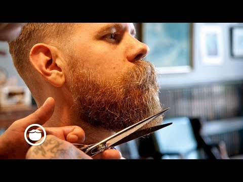 Classic Haircut And Beard Trim At Old School Barbershop