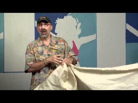 Michael Cooper shows you how to use Muslin and Canvas for Murals and Floorcloths
