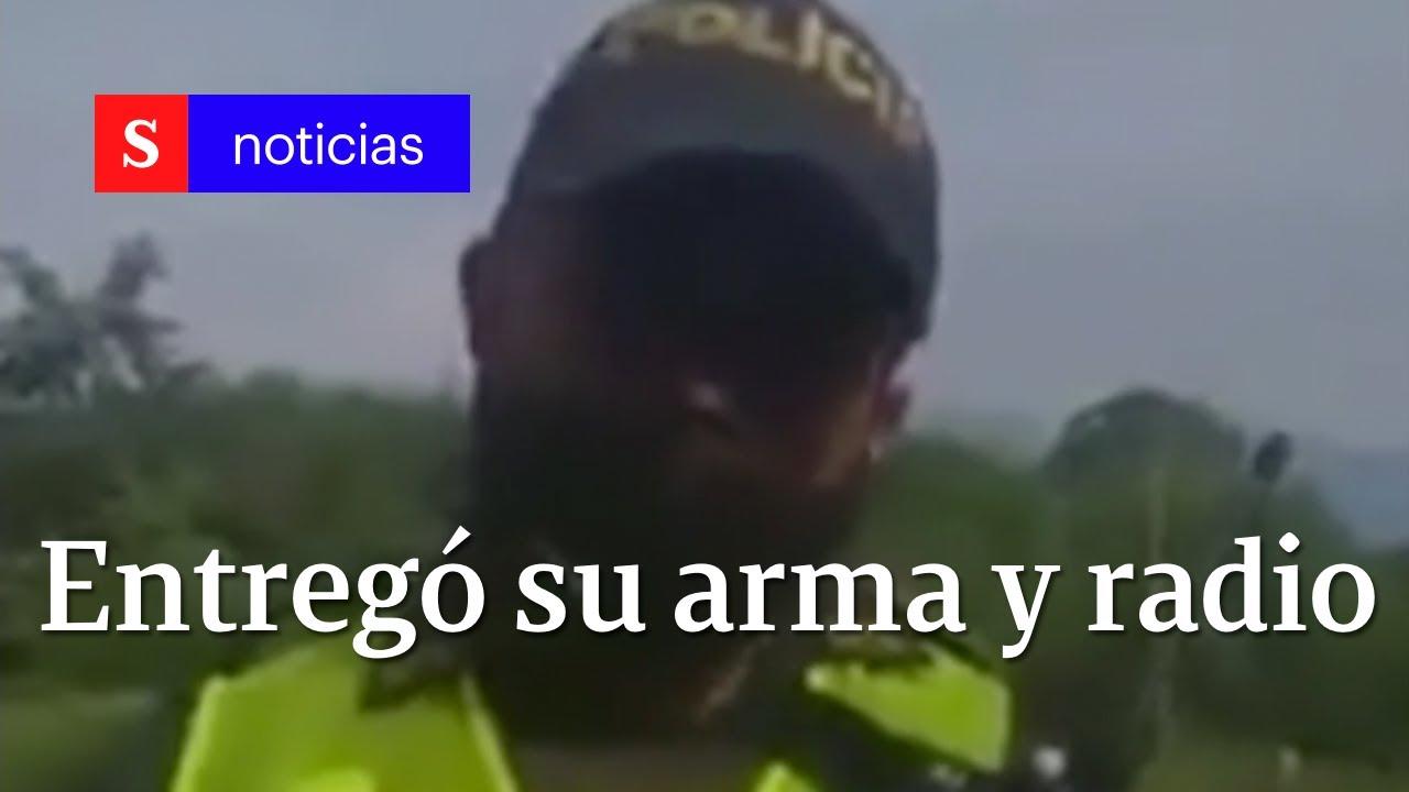 Ángel Zúñiga, el patrullero en Cali que se negó a hacer desalojo en Pance | Semana Noticias