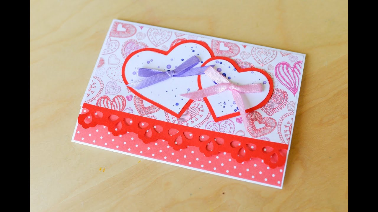 How to Make - Greeting Card Wedding Marriage Heart Birthday - Step ...