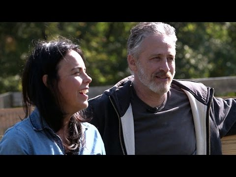 "Jon Stewart and wife on life after ""Daily Show"""