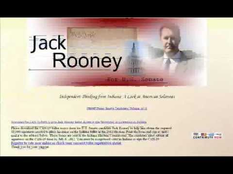 Interview w/ Jack Rooney independent candidate for US Senate Indiana 2012