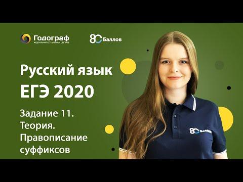 ЕГЭ по Русскому языку 2020. Задание 11. Теория. Правописание суффиксов