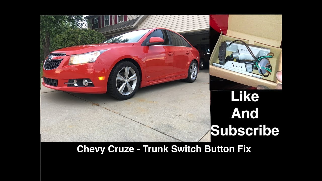 chevy cruze trunk switch replacement fix that broken button  [ 1280 x 720 Pixel ]