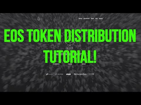 EOS Token Distribution TUTORIAL 🤑 | How to as US CITIZEN 💵💰