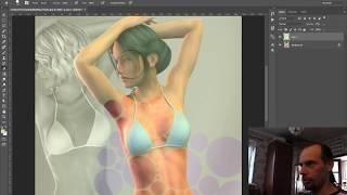 Adobe Photoshop иллюзия голой девушки с фотографии в купальнике